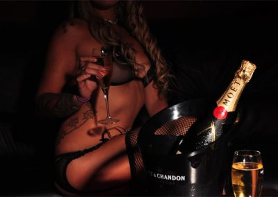 Dancer and Moet Champagne